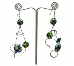 Pendientes Pendientes Sequin azul - 6,5 cm - Winter nights Babachic by Moodywood
