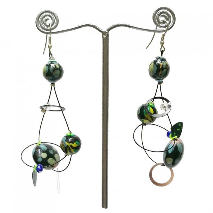 Sequin earrings sky blue - 6,5 cm - Winter nights
