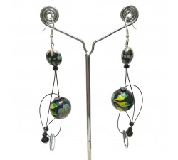 Pendientes Pendientes Abis azul - 7 cm - Winter nights Babachic by Moodywood