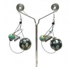 Earrings Satellites earrings sky blue - 5,5 cm - Winter Night Babachic by Moodywood