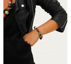Elastic bracelet beige/black - Winter Nights