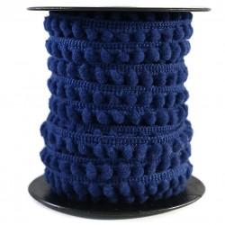 Les minis Galon de mini pompons - Bleu marine - 10 mm babachic