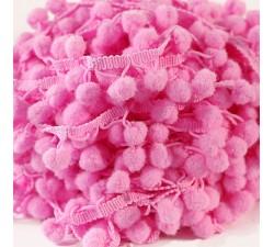 Los medianos Galón Pompones - Rosa 4 - 25 mm babachic
