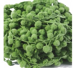 The mediums Pompom braid - Mint green - 25 mm babachic