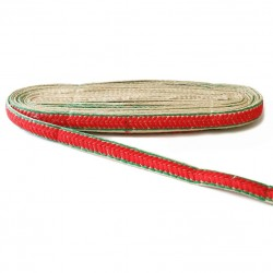 Bordado Galón bordado - Laurel - Rojo - 20 mm babachic