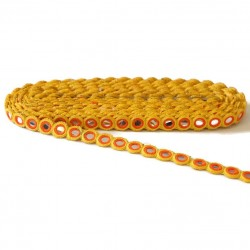 Braid Gallon eyelet - Mirrors - Yellow and orange - 15 mm