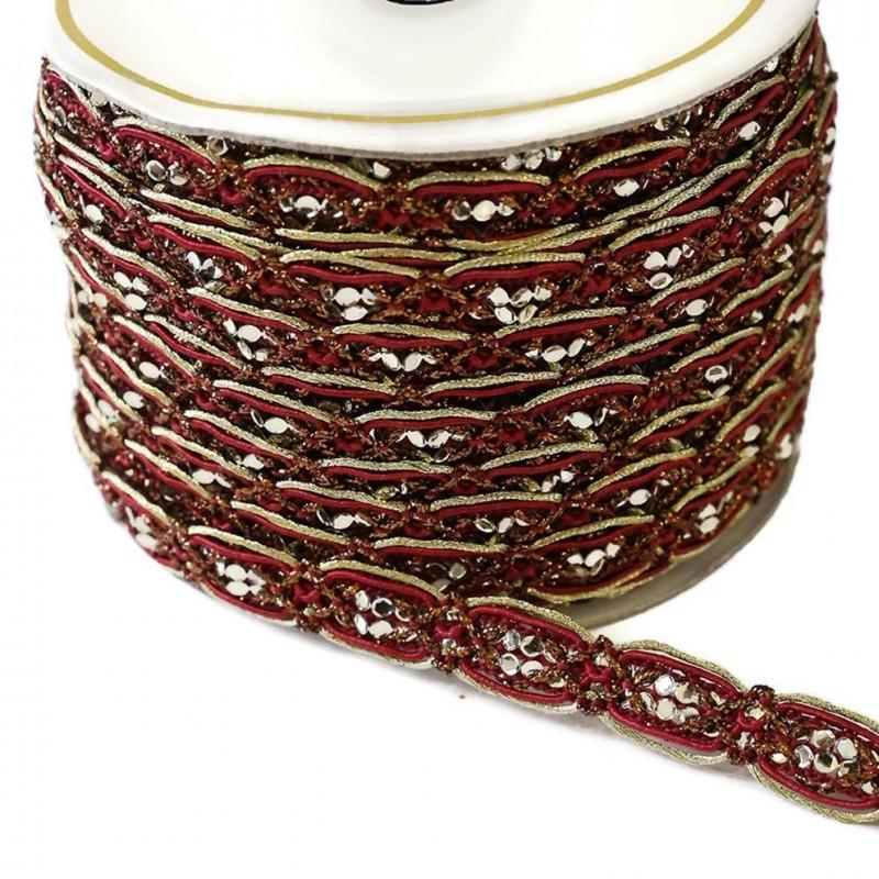 Braid Chain - Bordeaux - 15 mm