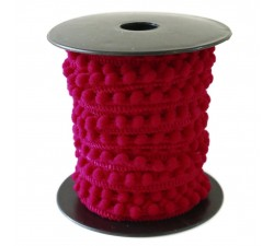 The minis Mini pompom - Fuchsia - 10 mm babachic