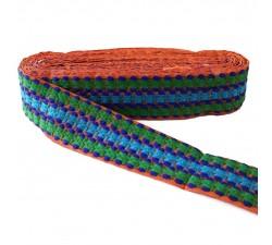 Bordado Bordado Tramway - Verde, azul y naranja - 50 mm babachic
