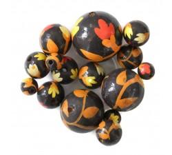 Fleurs Perle en bois - Tulipa - Marron et orange Babachic by Moodywood
