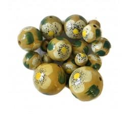 Beads Wooden beads - Hibiscus - Beige