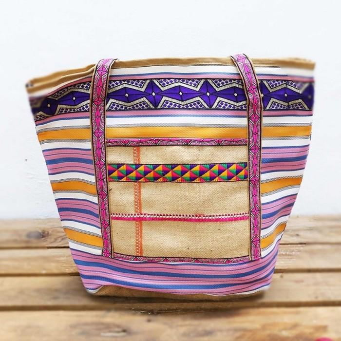 Big bag - Nylon and jute - Pink