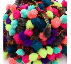 The big ones Pompom braid XL - Multicolor - 45 mm babachic