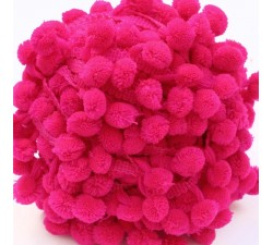 Les grands Galon Pompons XL - Rose - 45 mm babachic