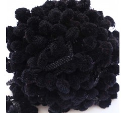 The big ones Pompom braid XL - Black - 45 mm babachic