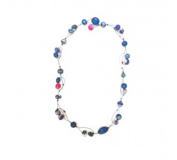 Necklaces Short Light necklace - Blue Berry Babachic by Moodywood