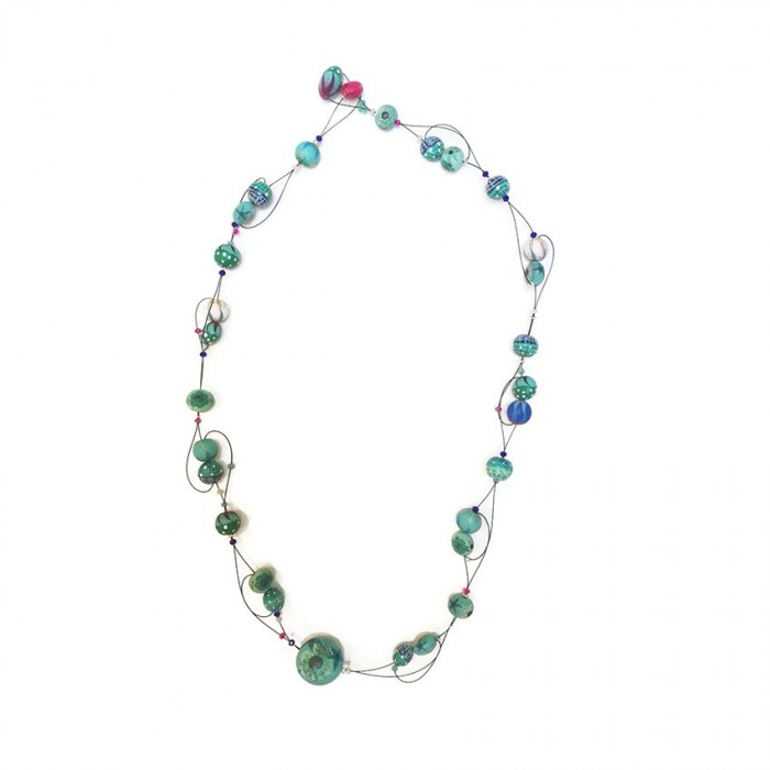 Short Light collar - Esmeralda