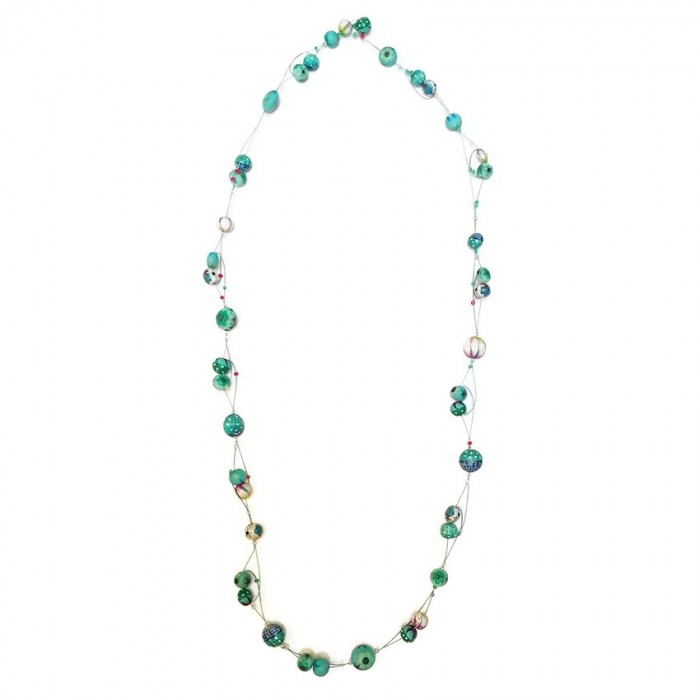 Long Light necklace - Emerald