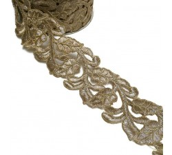 Lace Lace Guipure - Golden - 55 mm babachic