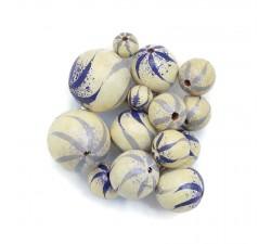 Zèbrées Perle en bois - Zébrée - Blanc, lilas et bleu Babachic by Moodywood