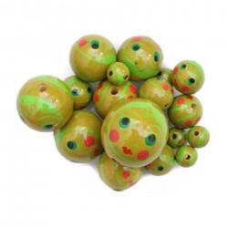 Perles en bois - Poupée - Vert
