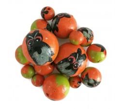 Animaux Perles en bois - Hibou - Orange et noir Babachic by Moodywood