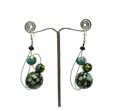 Pendientes Pendiente Azul - 6 cm - Winter nights Babachic by Moodywood