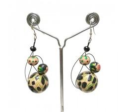 Earrings Earrings Beige/black - 6 cm - Winter nights Babachic by Moodywood