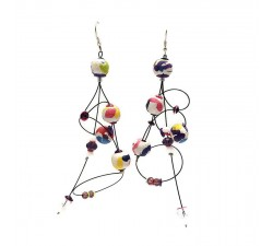Earrings Ellipse earrings 9 cm - Multicolor- Splash Babachic by Moodywood