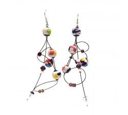 Earrings Ellipse earrings 9 cm - Multicolor- Splash Babachic by Moodywood