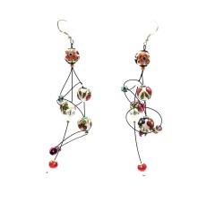Boucles d'oreilles Boucles d'oreille Ellipse 9 cm - Fleur - Splash Babachic by Moodywood