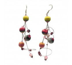 Boucles d'oreilles Boucles d'oreille Ellipse 9 cm - Lune - Splash Babachic by Moodywood