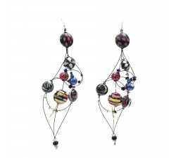 Boucles d'oreilles Boucles d'oreille Duchesse 16 cm - Noir - Splash Babachic by Moodywood