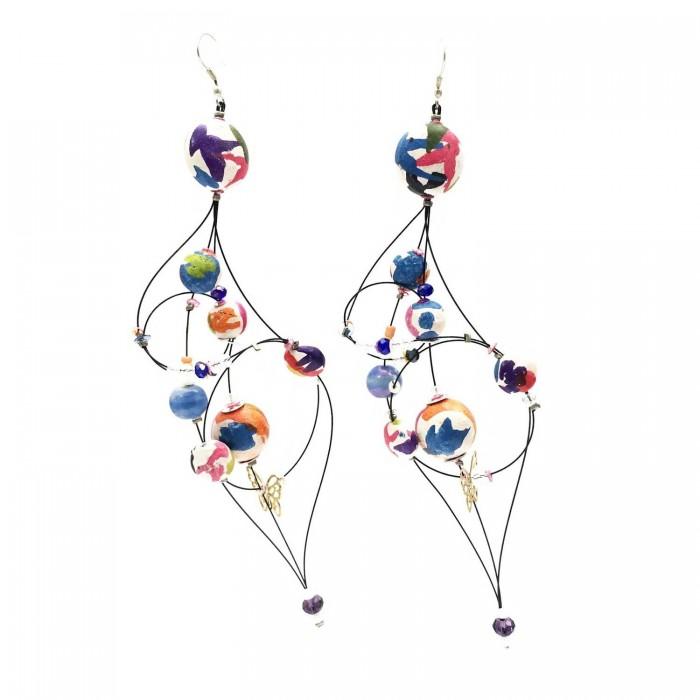 Pendientes Duquesa 16 cm - Multicolor - Splash
