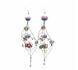 Boucles d'oreilles Boucles d'oreille Duchesse 16 cm - Zèbre - Splash Babachic by Moodywood