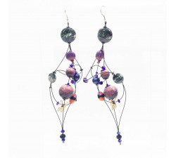 Earrings Duchess earrings 16 cm - Purple - Splash Babachic by Moodywood
