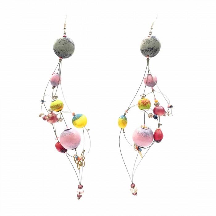 Duchess earrings 16 cm - Moon - Splash