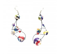 Boucles d'oreille Loop 7 cm - Multicolores - Splash