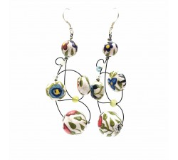 Pendientes Pendientes Loop 7 cm - Flor - Splash Babachic by Moodywood