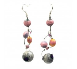 Pendientes Pendientes Loop 7 cm - Luna - Splash Babachic by Moodywood