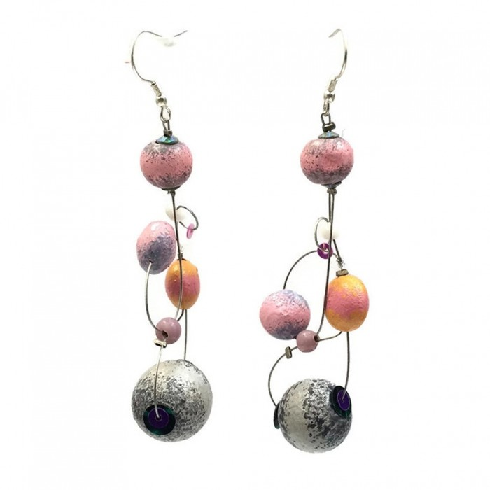 Loop earrings 7 cm - Moon - Splash