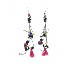 Pendientes Pendientes Pampille 12 cm - Negro - Splash Babachic by Moodywood