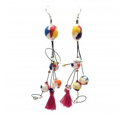 Pendientes Pampille 12 cm - Multicolor - Splash