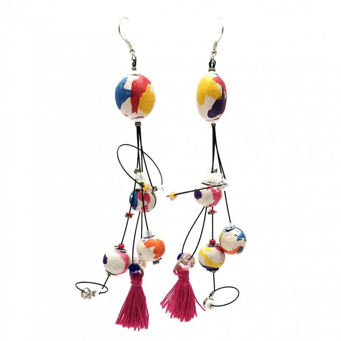 Boucles d'oreille Pampille 12 cm - Multicolores - Splash
