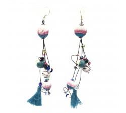Earrings Pampille earrings 12 cm - Zebra - Splash Babachic by Moodywood