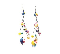 Drop earrings 12 cm - Multicolor - Splash