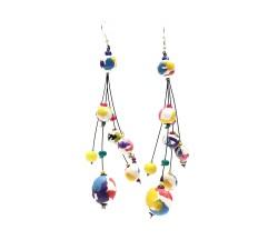 Earrings Drop earrings 12 cm - Multicolor - Splash Babachic by Moodywood