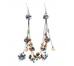 Earrings Drop earrings 12 cm - Flower - Splash Babachic by Moodywood