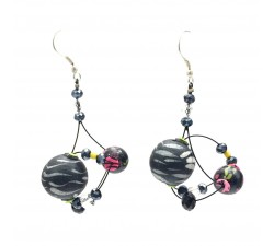 Earrings Drop earrings 4 cm - Black - Splash Babachic by Moodywood