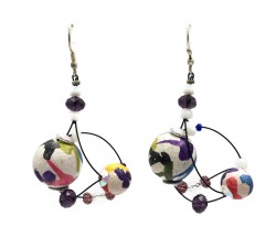 Earrings Drop earrings 4 cm - Multicolor - Splash Babachic by Moodywood